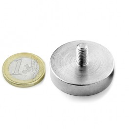 Pot magnet with threaded 32mm Ø